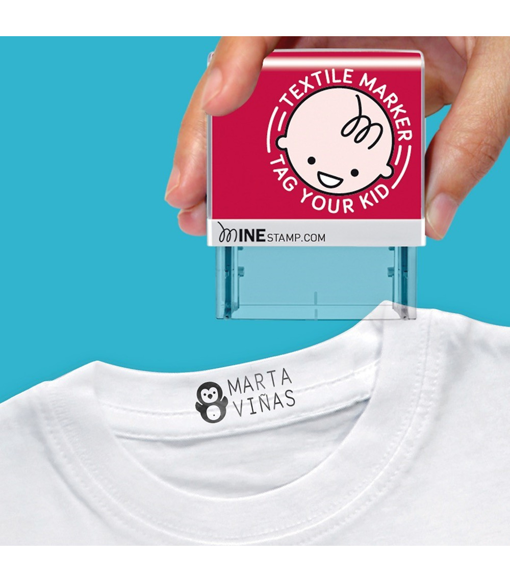 Stamp for clothes and books