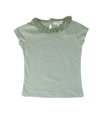"T-Shirt with ""froufrou"" collar"