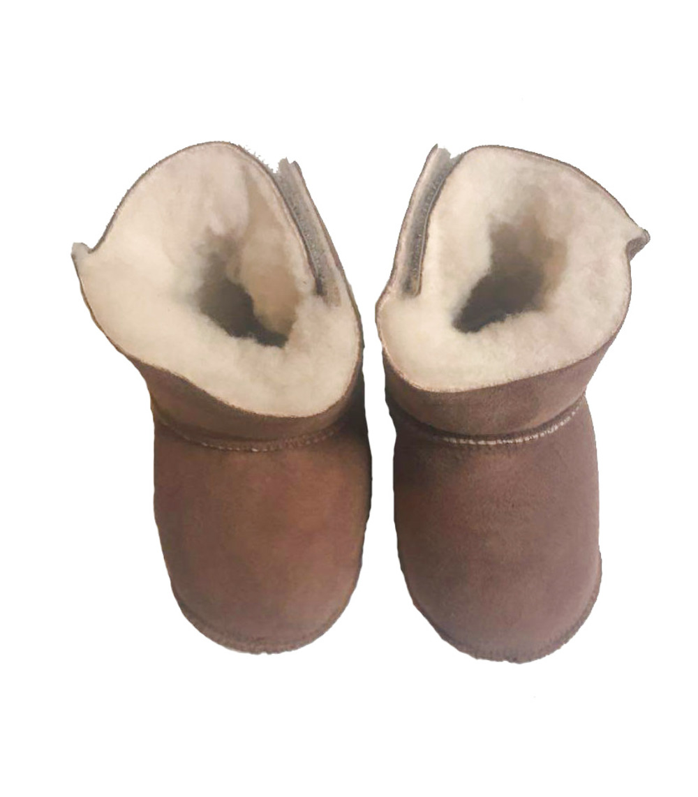 Sheepskin slippers for babies