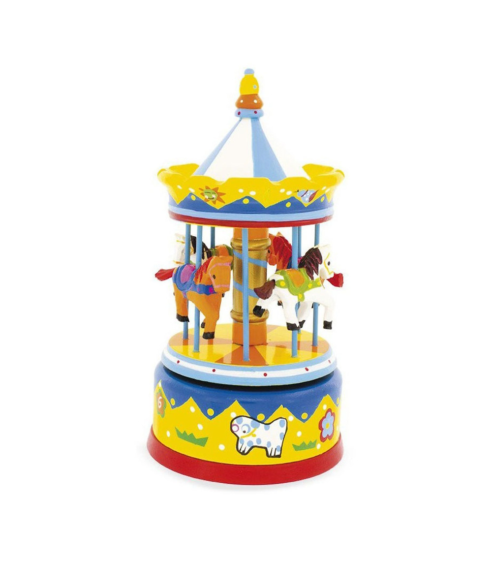 Yellow carrousel music box