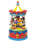 Red carrousel music box