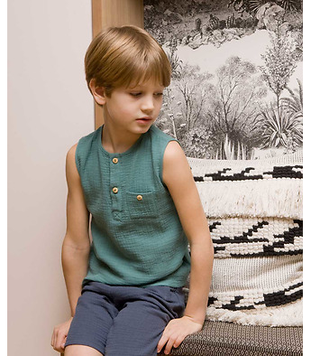 Lino sleeveless shirt