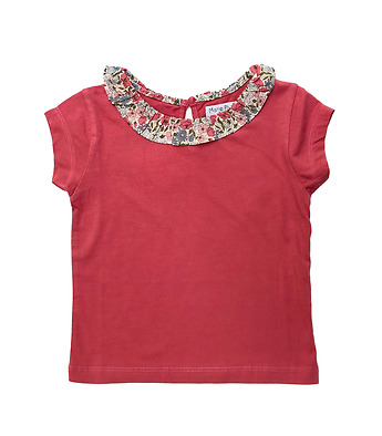 "T-Shirt with ""froufrou"" collar in organic cotton"