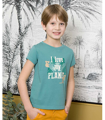 "T-shirt ""I love my planet"" in organic cotton"