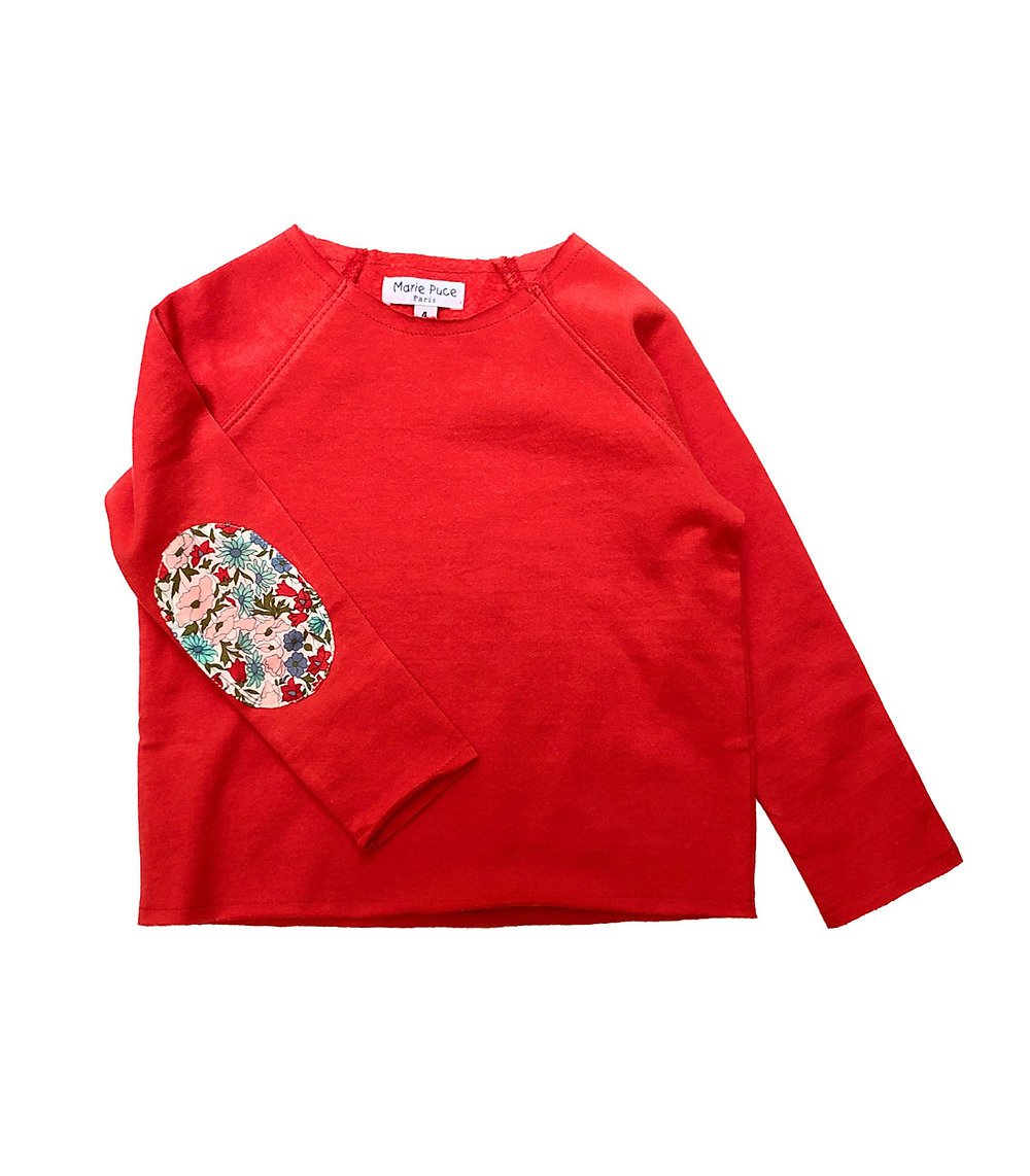 Liberty sweat shirt in organic cotton