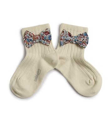 Short socks with Liberty bow